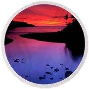 Nova Scotia Sunrise Round Beach Towel