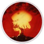 Nuclear Explosion Round Beach Towel