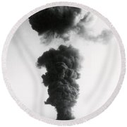 Nuclear Test Site Round Beach Towel