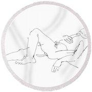 Nude-male-art-19 Round Beach Towel