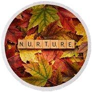 Nurture-autumn Round Beach Towel