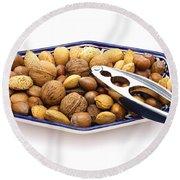 Nuts Round Beach Towel