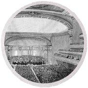 Nyc: Carnegie Hall, 1891 Round Beach Towel