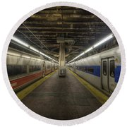 Nyc Subway Round Beach Towel