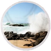 Oahu North Shore Breaker Round Beach Towel