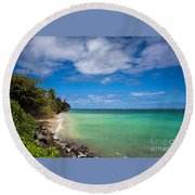 Oahu Solace Round Beach Towel