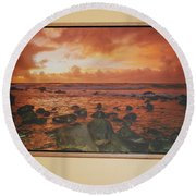 Oak Floater Frame Round Beach Towel