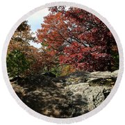 Oak Rock Round Beach Towel
