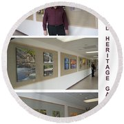 Oakwood Heritage Gallery Exhibit Round Beach Towel