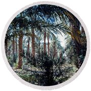 Oasis At Death Valley Round Beach Towel