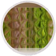 Oasis In The Desert - Abstract Art Round Beach Towel
