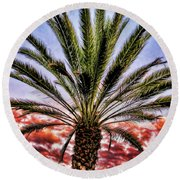Oasis Palms Round Beach Towel