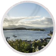 Oban Bay View Round Beach Towel