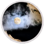 Obscured By Clouds Round Beach Towel