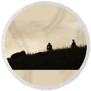 Observations Round Beach Towel