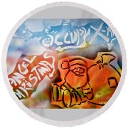 Occupy X-mas Round Beach Towel