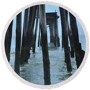 Ocean City 59th Street Pier Round Beach Towel