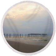 Ocean City  Round Beach Towel