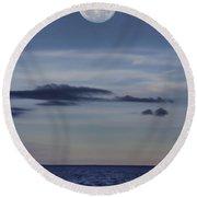 Ocean Moon Round Beach Towel