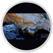Shell Beach Ocean Tunnel Round Beach Towel