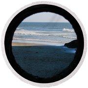 Ocean View  Round Beach Towel