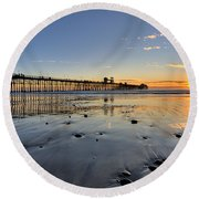 Oceanside Pier Round Beach Towel
