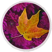 October Hues Round Beach Towel by Paul Wear