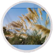 Of Sun And Sky And Wind Round Beach Towel