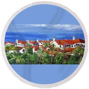 Off The Coast Round Beach Towel