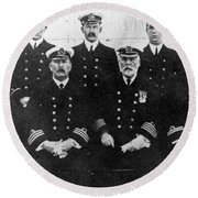 Officers Of The Titanic, 1912 Round Beach Towel