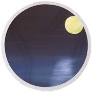 Offset Moon Round Beach Towel by Alys Caviness-Gober