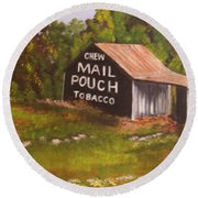 Ohio Mail Pouch Barn Round Beach Towel