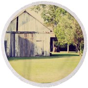 Ohio Shed Round Beach Towel