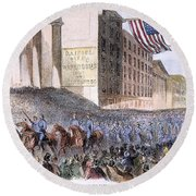Ohio: Union Parade, 1861 Round Beach Towel