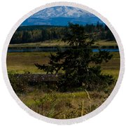 Ohop Valley Rainier Round Beach Towel