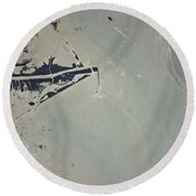 Oil Slick, Mississippi River Delta Round Beach Towel by NASA/Science Source