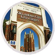 Oklahoma City University Round Beach Towel