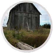 Old Boat House Round Beach Towel