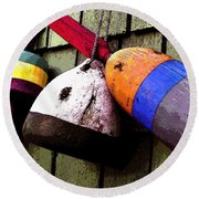 Old Bouys Round Beach Towel