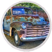 Old Chevy Round Beach Towel