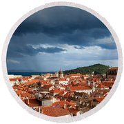 Old City Of Dubrovnik Round Beach Towel