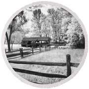 Old Country Saw-mill Round Beach Towel