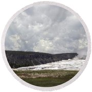 Old Faithful At Rest Round Beach Towel