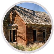 Old Farm Homestead - Woodland - Utah Round Beach Towel