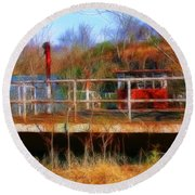 Old Ferry On The Cumberland Round Beach Towel