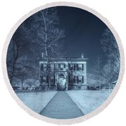 Old  House Infrared Round Beach Towel