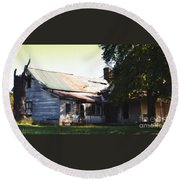 Old House Round Beach Towel