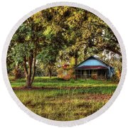 Old House On 98 Round Beach Towel