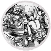 Old King Cole Round Beach Towel