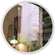 Old Market Reflections Round Beach Towel